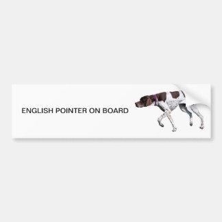 English Pointer dog photo bumper sticker, gift Bumper Sticker