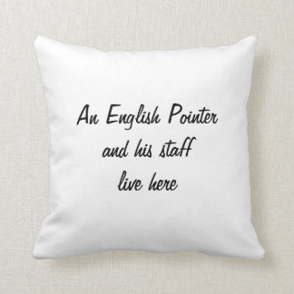 English Pointer dog photo cushion pillow