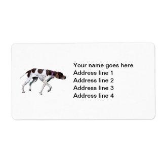 English Pointer dog photo custom address labels