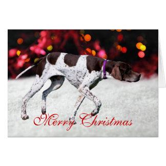 English Pointer dog photo custom Christmas Card
