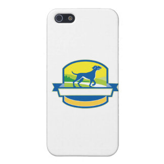 English Pointer Dog Pointing Up Crest Retro Case For iPhone SE/5/5s