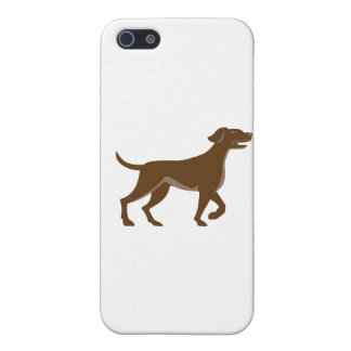 English Pointer Dog Pointing Up Retro iPhone SE/5/5s Cover