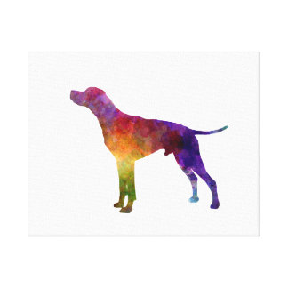 English Pointer in watercolor Canvas Print
