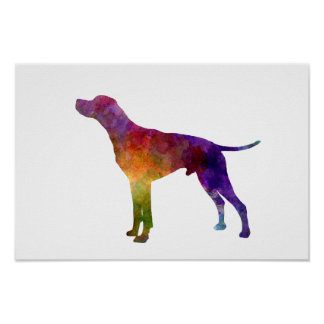 English Pointer in watercolor Poster