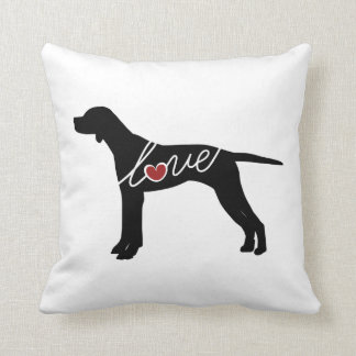 English Pointer Love Throw Pillow