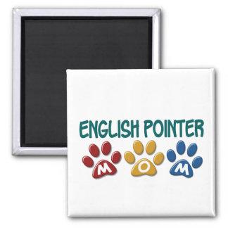ENGLISH POINTER Mom Paw Print 1 Fridge Magnet