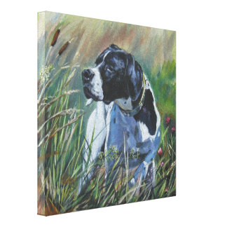 English Pointer Painting on Wrapped Canvas