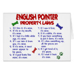 ENGLISH POINTER Property Laws 2 Greeting Card