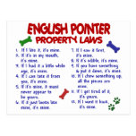 ENGLISH POINTER Property Laws 2 Post Cards