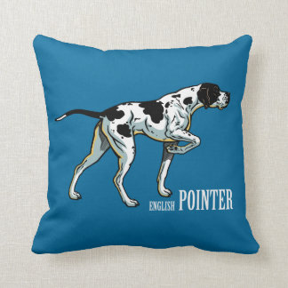 english pointer throw pillow