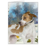English Pointer winter scene cards