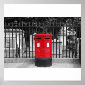 English postbox poster