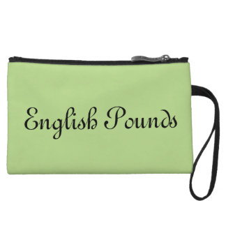 English Pounds wristlet
