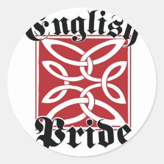 English Pride Classic Round Sticker