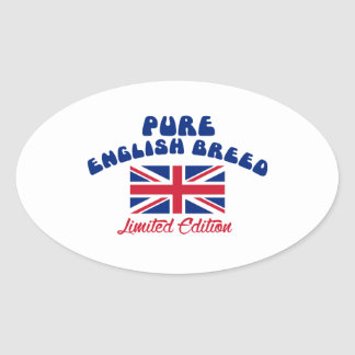 English pride designs oval sticker