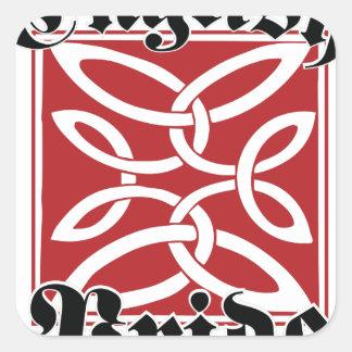 English Pride Square Sticker
