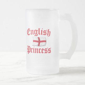 English Princess Frosted Glass Beer Mug
