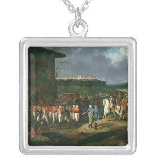 English Prisoners at Astorga Presented to Silver Plated Necklace