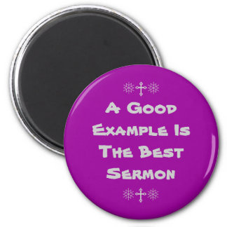 english proverb a good example 2 inch round magnet