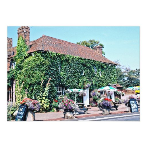 English pub in the village of Matfield, Kent, Engl 5x7 Paper Invitation Card