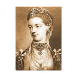 English Queen Charlotte 1762 Stretched Canvas Print