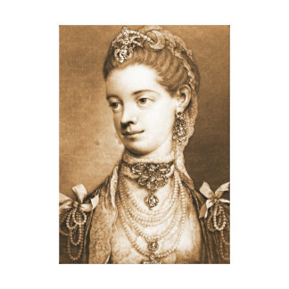 English Queen Charlotte 1762 Canvas Print