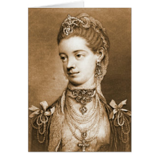 English Queen Charlotte 1762 Greeting Card