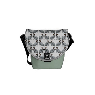 English Rabbit Frenzy Messenger Bag