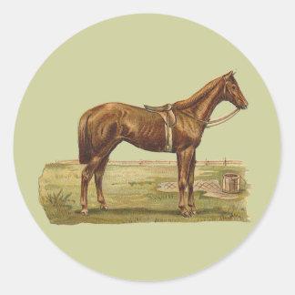 English Racehorse Classic Round Sticker