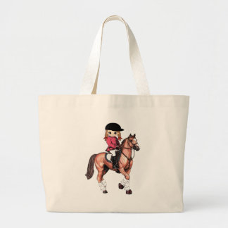 English Riding Girl and Horse Tote Bag