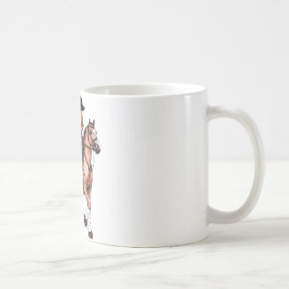 English Riding Girl and Horse Coffee Mug