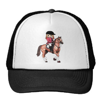 English Riding Girl and Horse Trucker Hat