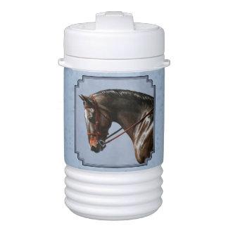 English Riding Horse Sky Blue Beverage Cooler