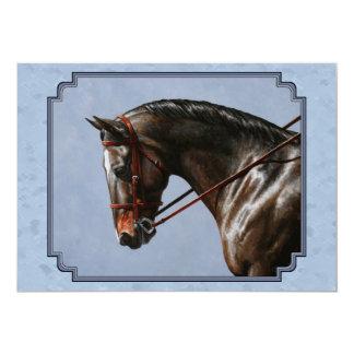 English Riding Horse Sky Blue Card