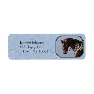 English Riding Horse Sky Blue Label