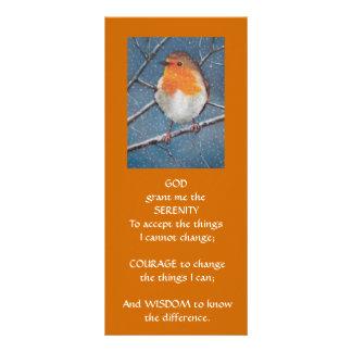 English Robin: ART: SERENITY PRAYER Rack Card