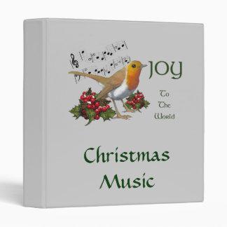 English Robin, Holly, ARTWORK: CHRISTMAS BINDER