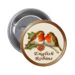 English Robins Pinback Button
