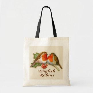 English Robins Tote Bag