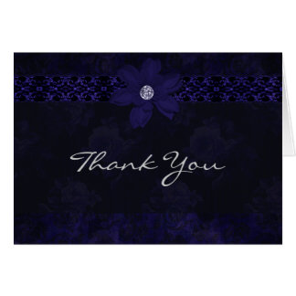 English Rose - Blue - Thank You Card