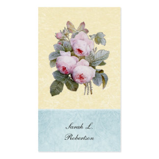 English Rose Botanical Personalized Business Card