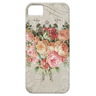 English Rose Bouquet, Vintage n Modern Swirl Leaf iPhone 5 Cases