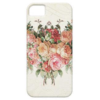 English Rose Bouquet, Vintage n Modern Swirl Leaf iPhone 5 Cover
