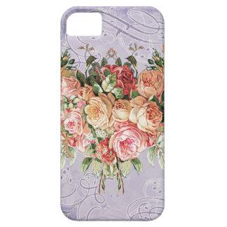 English Rose Bouquet, Vintage n Modern Swirl Leaf iPhone SE/5/5s Case