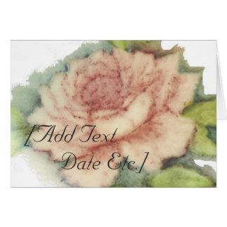 English Rose Close Up Card-Customize Card