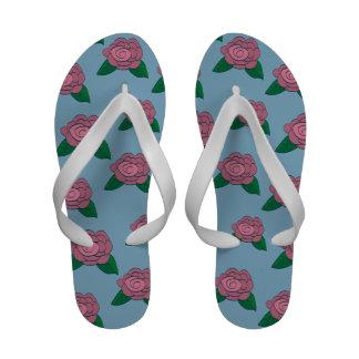 English Rose Flip Flops