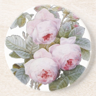 English Rose Garden Bouquet Pink Floral Drink Coaster