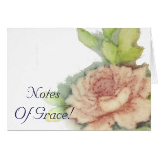English Rose Graceful Stationary-Customize Card