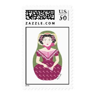 English Rose Matryoshka Stamps