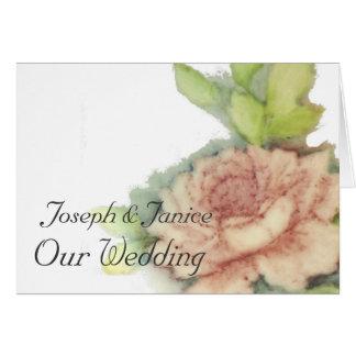 English Rose Our Wedding Card-Customize Card